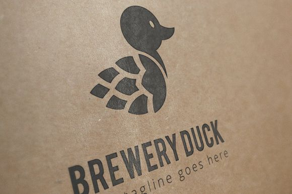 brewery duck logo template by N_thirteen on Creative Market