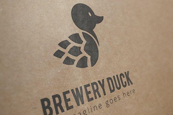 brewery duck logo template by N_thirteen on Creative Market