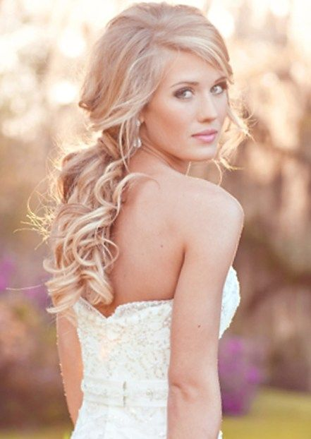 The 25 best curly ponytail hairstyles ideas on pinterest curly how to choose hairstyle according to wedding dress talk hairstyles curly ponytail pmusecretfo Image collections