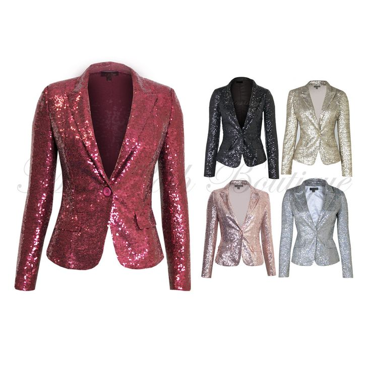 Collection Sequin Blazer Womens Pictures - Reikian