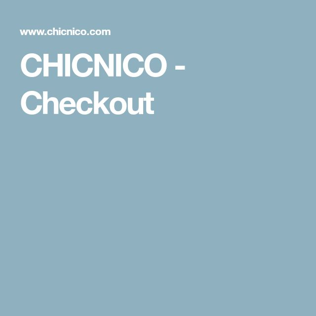 CHICNICO - Checkout