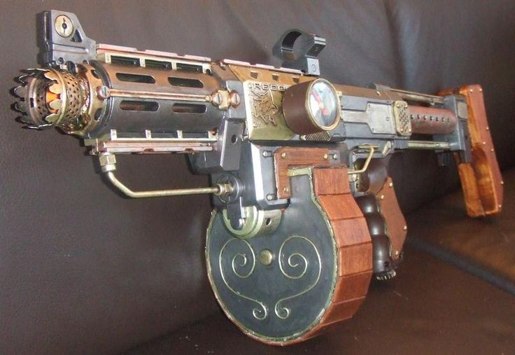 Nerf modification, used for steampunk LARP's.