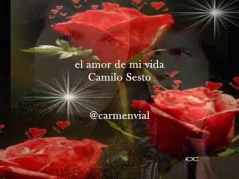 """""""Por qué me das libertad para amar, si yo prefiero estar preso de ti"""" Esta es mi canción favorita de Camilo Sesto, siempre me ha parecido hermosa, desde las campanas al inicio, su letra, todo. / Camilo Sesto - El amor de mi vida - YouTube"""