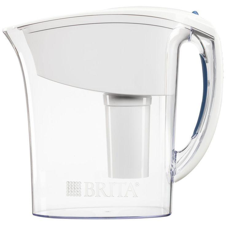 brita atlantis water filter pitcher white 6 cup high x deep x wide