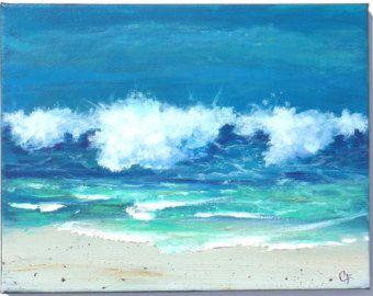 17 beste idee n over oceaan schilderijen op pinterest strand schilderijen oceaan tekening en - Associatie van kleur e geen schilderij ...