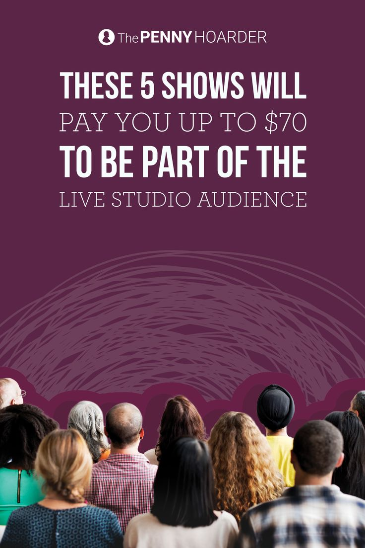 Always wanted to be in a TV audience? These shows will actually pay you up to $70 to watch them get filmed... @thepennyhoarder