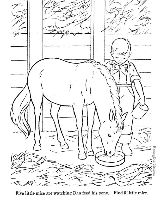 Horses to color for kids Kendra