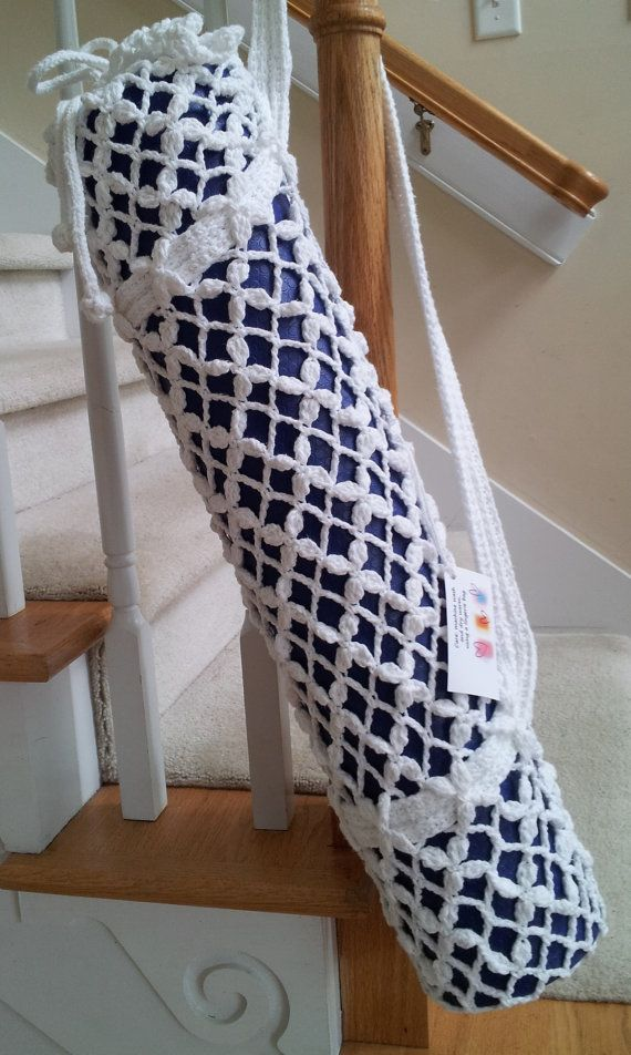 PDF  PATTERN for our favorite crotchet  yoga mat bag. by buyKaren, $5.00