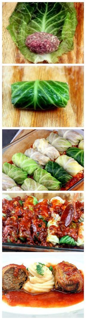 Amazing stuffed cabbage rolls! Tender leaves of cabbage stuffed and rolled with beef, garlic, onion and rice, simmered in a rich tomato sauce.