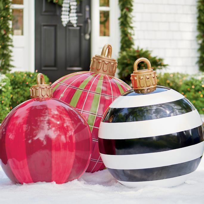 Oversized Yard Ornaments Grandin Road Large Christmas Ornaments Giant Christmas Ornaments Large Outdoor Christmas Ornaments