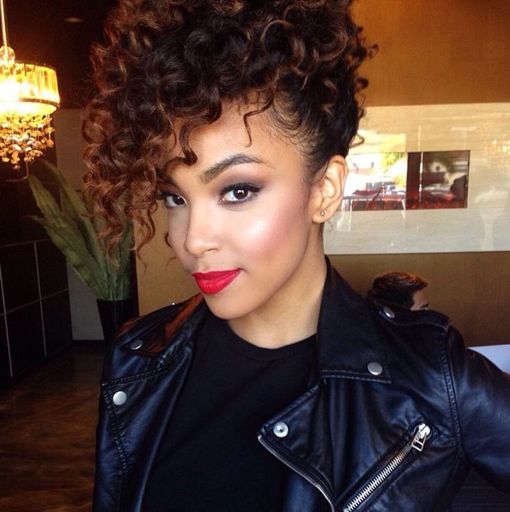 {Grow Lust Worthy Hair FASTER Naturally}        ========================== Go To:   www.HairTriggerr.com ==========================         Soft and Curly Updo Juxtaposed with Hard and Edgy Moto Jacket...Love It!!!