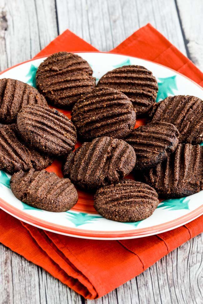 Flourless Sugar Free Chocolate Shortbread Cookies Video Recipe