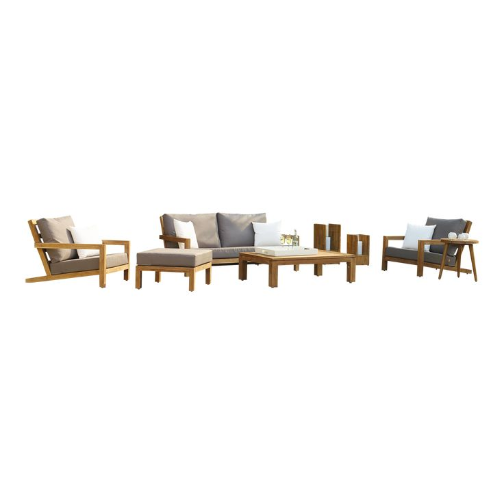 Life Outdoor Living Block Loungeset - Teak