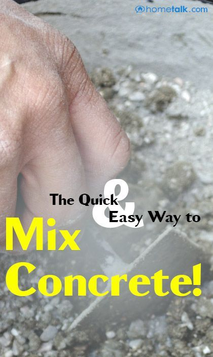 The Quick & Easy Way to Mix Concrete!