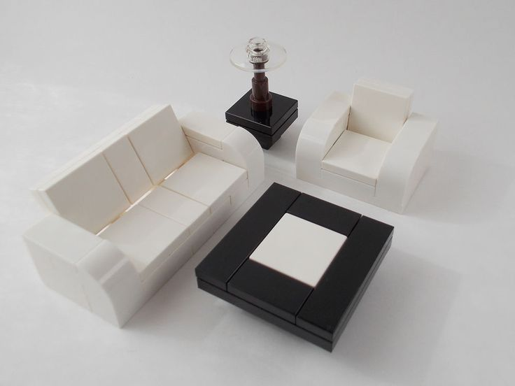 Lego Furniture 4 Piece Seating Set Couch Arm Chair
