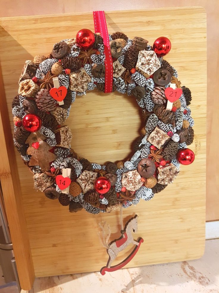 Christmas wreath made by me.