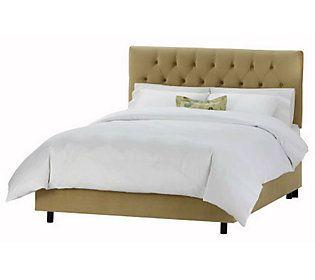 Skyline Furniture Tufted Velvet Full Bed