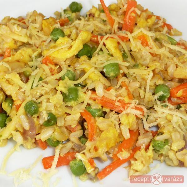 Zöldséges-tojásos sült rizs