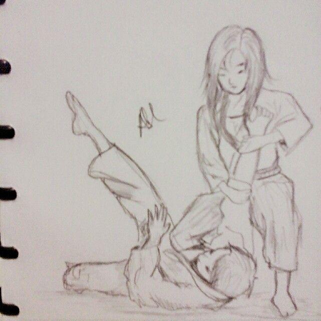 karate taekwondo sketch drawing