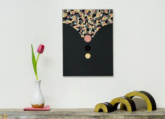 Drag & Drop  Abstract Geometric Painting by EyeJoyArt on Etsy