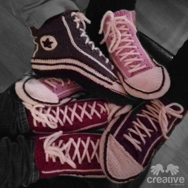 H♥BBYSYSLER: Søster'n strikker! Masse produksjon av converse tø...