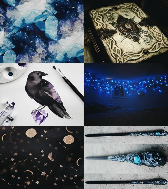 """Harry Potter Aesthetics : The Ravenclaw house """"Members of this house are characterised by their wit, learning, and wisdom. Ravenclaws also pride themselves in being original in their ideas, and love to practice different art forms."""""""