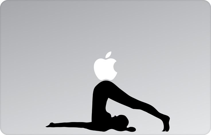 Yoga Asana Apple Decal by #skinsutra  #apple #yoga #indian #ploughpose #asana #yogadesign#indian #vinyldecal #vinaldesign #vinyl #appledesign #macbook #macbookdecal #appledecal #macbookskin #appleskin #laptopskin