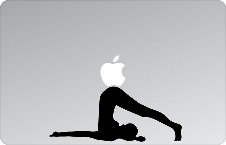 Yoga Asana Apple Decal by #skinsutra  #apple #yoga #indian #ploughpose #asana #yogadesign#indian #vinyldecal #vinaldesign #vinyl #appledesign #macbook #macbookdecal #appledecal #macbookskin #appleskin #laptopskin