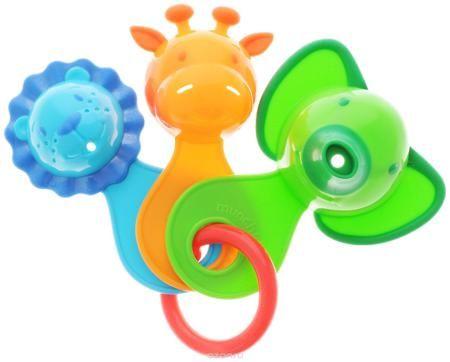 """Munchkin Игрушка для ванной Веселые ситечки цвет салатовый  — 705р.  Игрушка для ванны Munchkin """"Веселые ситечки"""" непременно понравится вашему ребенку и превратит купание в веселую игру! Игрушка состоит их трех разноцветных ковшиков-животных, соединенных пластиковым кольцом. В каждой игрушке есть маленькие дырочки, через которые так интересно переливать воду. Игрушка развлекает малыша во время купания и в то же время знакомит его с окружающим миром - ребенок с удовольствием будет зачерпывать…"""