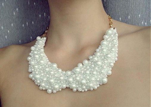 Dettus / white pearl collier necklace