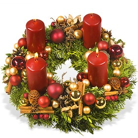 """Advent, Advent"" Adventskranz"