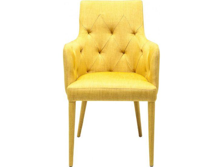 Piękne ;-) Krzesło Gamble II żółte — Krzesła — KARE® Design