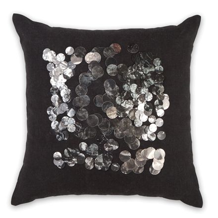 45x45cm Centre Sequin cushion Black