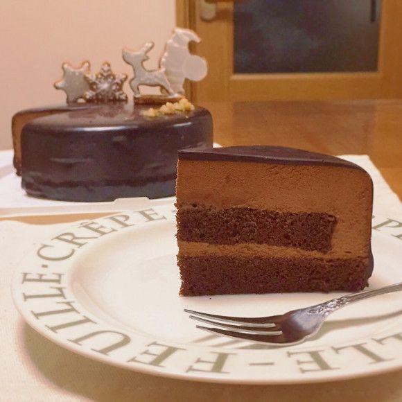 チョコレートムースケーキdeちょっと早めのクリスマスケーキ♪