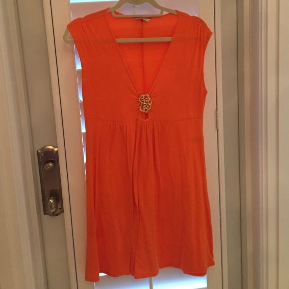 Orange beach cover up Orange beach cover up! Really adorable! Trina Turk Dresses Mini