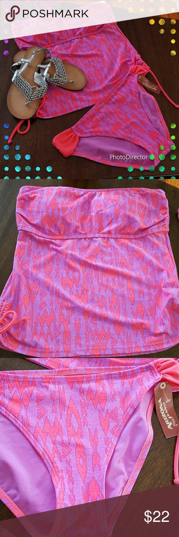 ARIZONA TANKINI Cute, colorful Arozona tankini in size large. Never worn, tag still attached. Straps that attach to top are missing. Arizona Jean Company Swim Bikinis