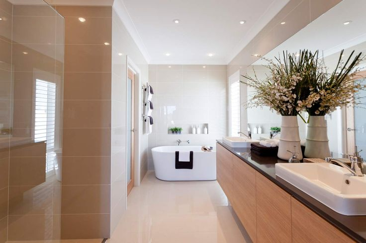 Love the freestanding bath in this ensuite. See it for yourself in the new Pacific display home by McDonald Jones at North Lakes Brisbane. #bathroom #ensuite #displayhome #newhomes #mcdonaldjones #mcdonaldjoneshomes #northlakes #brisbane