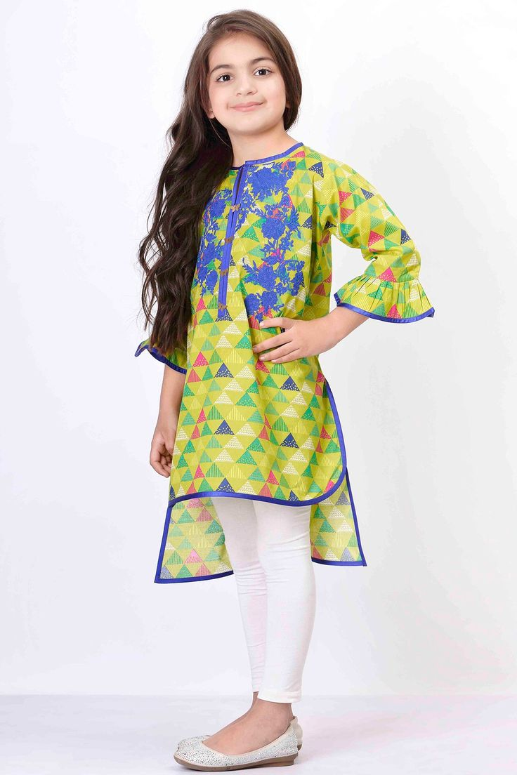 Khaadi –  Embroidered Kurta - Girls - Kids