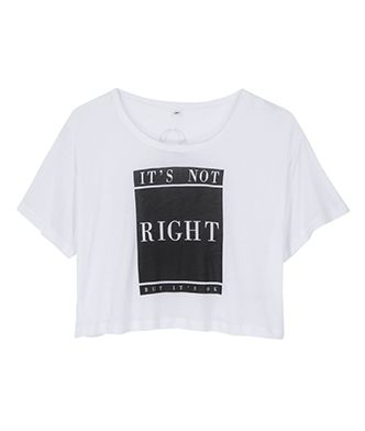 It's Not Right But It's Ok Cropped Women's T-Shirt