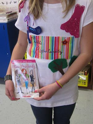 Book report shirts.  What a fun idea for a book club to do after reading a book.  OR does your daughter have a favorite book series?  Have her design a shirt expressing the theme of the books.