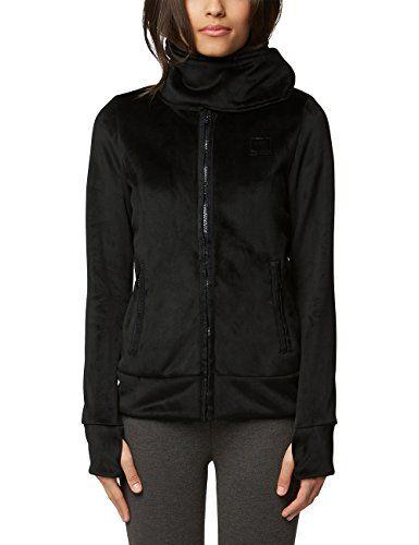 782c46f18d55 Bench Core Velvet Fleece Funnel Gilet Femme Noir (Black Beauty Bk11179)  Large