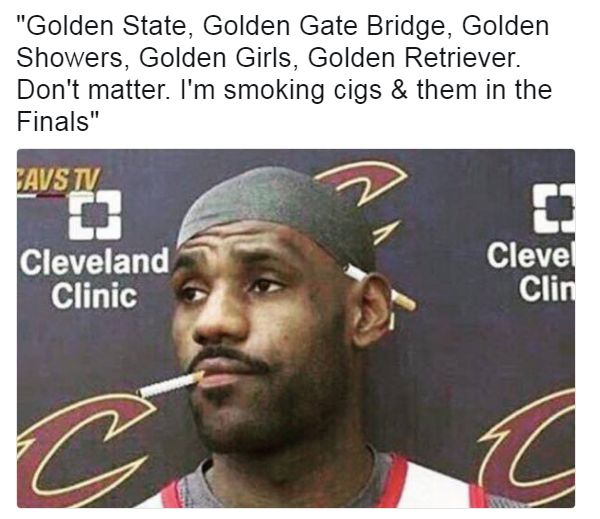 LeBron James is ready for the Golden State Warriors