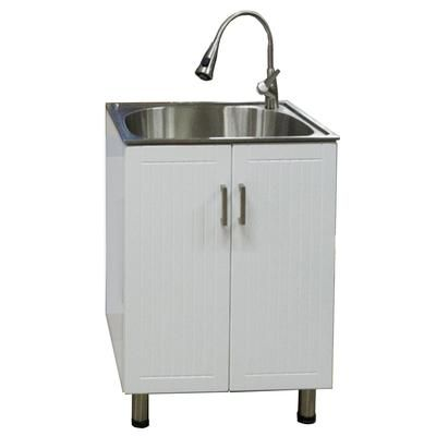Laundry Sink Cabinet Stainless Steel : Presenza - Utility Cabinet with Deep Stainless Steel Sink - QL018 ...