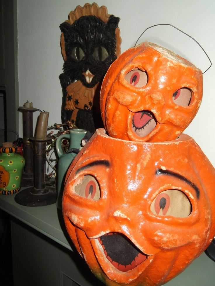 80 best halloween paper mache images on pinterest for Papier mache lanterns