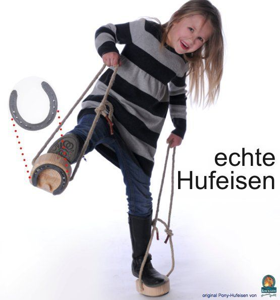 """Klang und Spuren wie beim echten Pferd!  Echtes Hufauskratzen nach jedem Reitvergnügen!  ... absolut """"Gaul""""!  Bei Youtube: http://youtu.be/4g8PFlO3Fp0"""