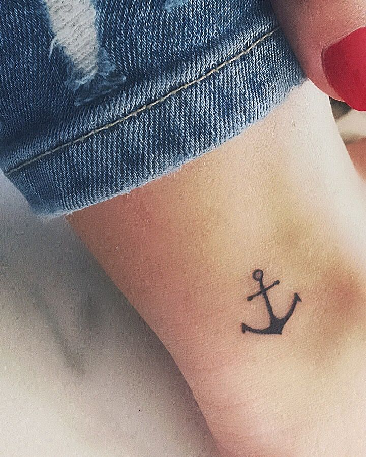 Anchor tattoo ankle #see #mare