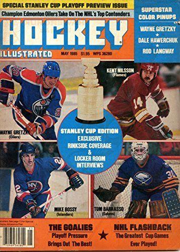 Hockey Illustrated May 1985- Wayne Gretzly Cover Photo- Pinups of Wayne Gretzky