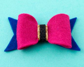 Frozen Hair Bow- Princess Anna -  Felt Hair Bow - Disney Inspired