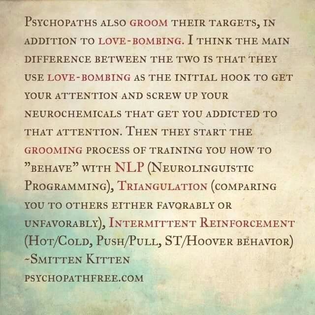 LOVE BOMBING  A help for narcissistic sociopath relationship survivors.