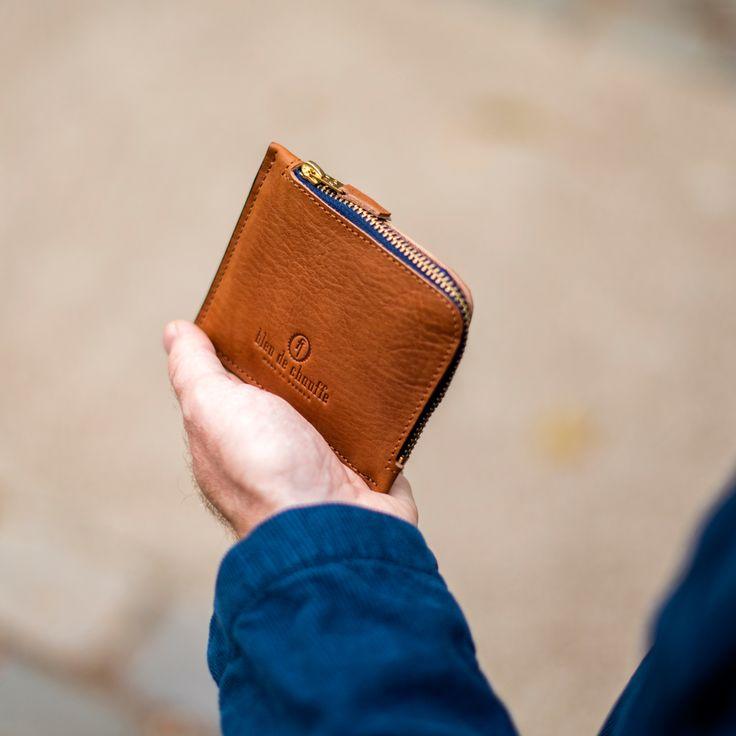 Porte monnaie zippé As - As zipped purse. Bleu de Chauffe. In vegetable tanned leather. Made in France #new #wallet #billfold